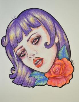 Mel Clarke Prismacolor